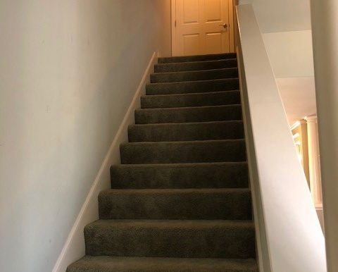 Stairs to floored attic